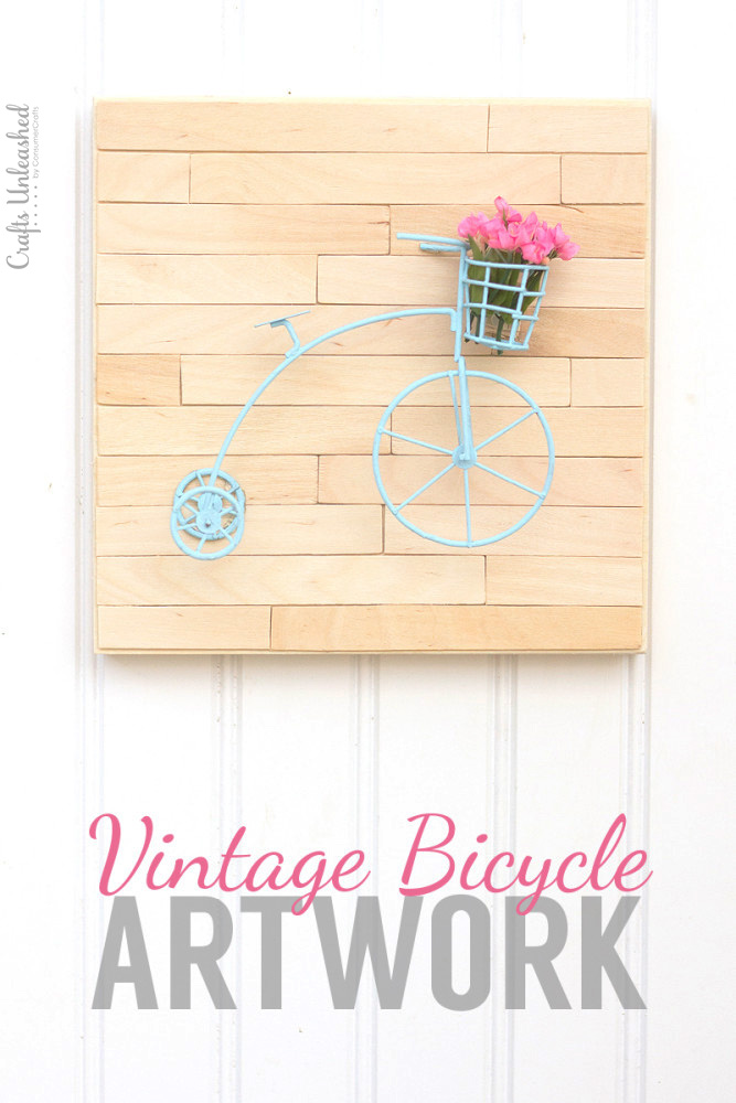 Mini bicicleta vintage DIY Wall Art