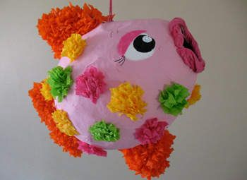 Piñata de Pescado Tropical Manualidad familiar divertida