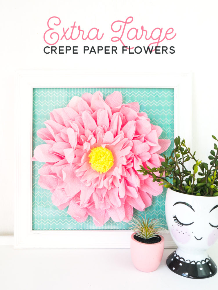 Easy XL Crepe Paper Flowers