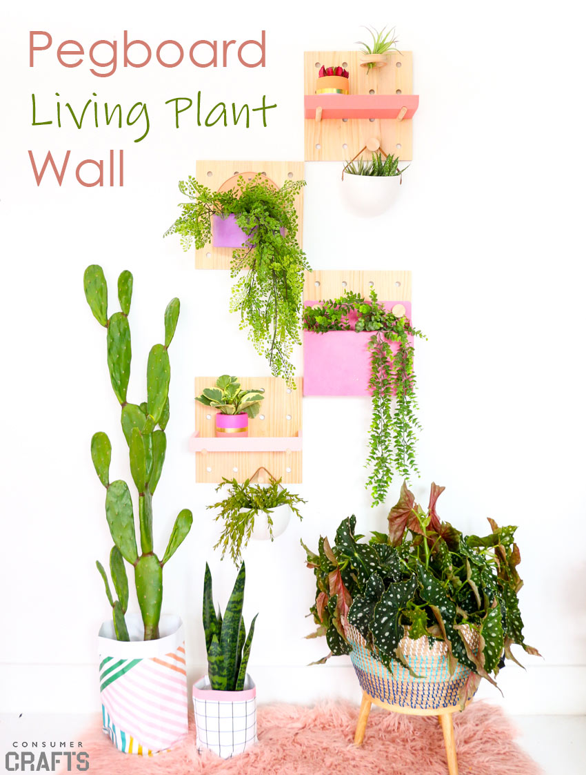 DIY Pegboard Living Plant Wall