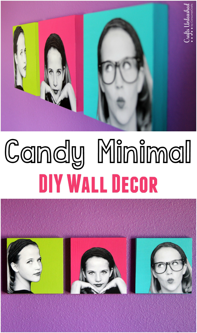 Decoración de pared «Candy Minimal» DIY