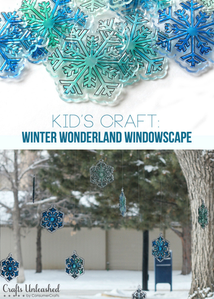 Kid$0027s Craft: DIY Winter Wonderland Windowscape