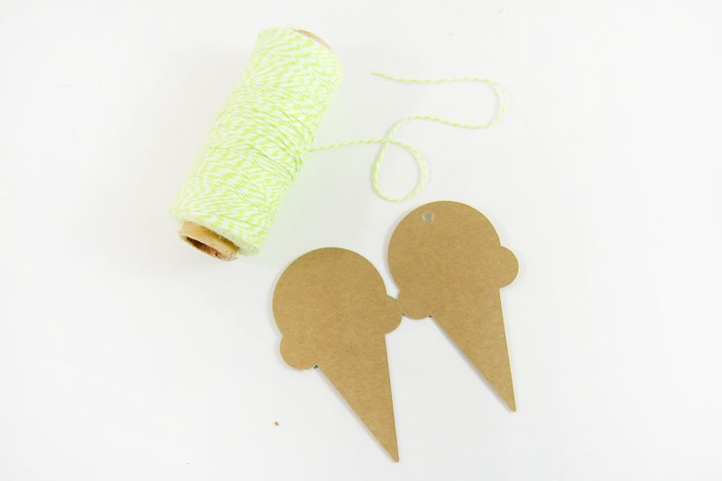 Etiqueta de regalo de helado simple DIY