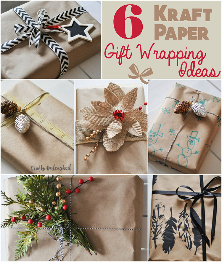 6 ideas para envolver regalos en papel kraft