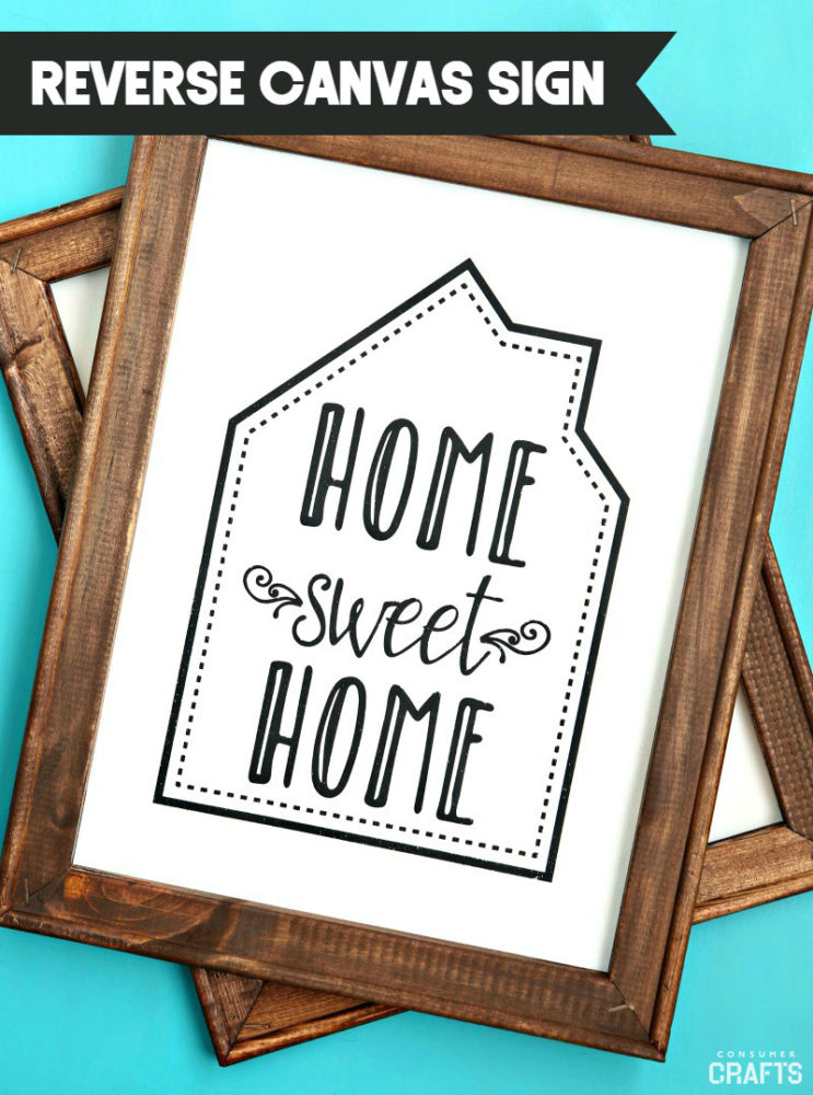 Home Sweet Home Reverse Canvas Signos